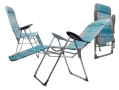 Redwood Leisure Textoline Reclining Chair in Mesh Fabric and Metal Frame and Footrest FC126 *Out of Stock*