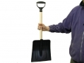 Lightweight 85cm Plastic Snow Shovel with Wooden Shaft HAMSS100