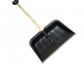 4 x Lightweight Extra Wide Scoop 1.17m Plastic Snow Shovel with Wooden Shaft HAMSS102