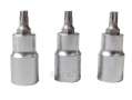 "HILKA Professional 3 Pc 1/2"" Drive T40 Star Bit Set HIL1203040"