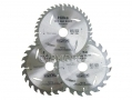 Hilka Professional 3pc TCT Circular Saw Blades 184mm with 30mm bore and Adapter Rings HIL51184003