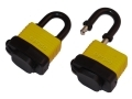 HILKA 2pc 40mm Weather Resistant Padlock Keyed Alike 4 Keys Per Lock HIL70828040