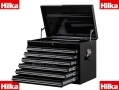 HILKA Professional Black Toolbox Lockable 7 Drawer Rollaway Cabinet with 12 Drawer Tool Chest HILPTC19