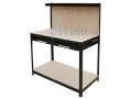 Hilka Professional Work Bench with Drawer 1510mm Powder Coated in Black HILWB212B *Out of Stock*