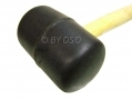 Professional 16Oz Wooden Handle Rubber Mallet Black HM105