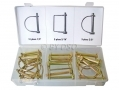 Zinc Plated 20 Piece PTO Power Take Off Pin Assortment with Tempered Springs HW022 *Out of Stock*