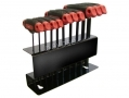 10 Piece T Handle Metric Hex Allen Key Set HX027