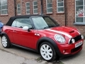 2010 Mini 1.6 Cooper S Convertible Petrol Manual Red with Black Leather Seats AC Alloys 1 Previous owner FSH 50,000 miles HY10HNW
