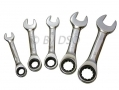 Am-Tech Professional 5Pc Combination Stubby Ratchet Spanner Set  10 - 19mm AMK2010