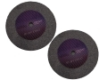 2 Pack Trade Quality 6 inch 60 Grit Fine Grinding Wheel PW020F