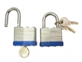 2Pc 40mm Keyed Alike Laminated Padlocks LK062 *Out of Stock*