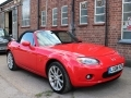 2008 Mazda MX5 2.0 Sport 6 Speed Red with Black Hood Black Leather PAS AC Alloys 1 Previous Owner FSH LX08KZN