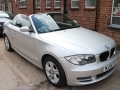 2009 BMW 118I 2.0 SE Convertible Manual Petrol Silver Black Hood AC Alloys 49,000 miles Service History MJ59TFZ