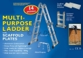 Pro User 14 in 1 Multi-Purpose Ladder with Scaffold plates MP34 *Out of Stock*