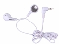 Omega White Super Bass Earphones 3.5 mm Nickel Plug 1.2 m Meter Cable OM10013