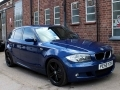 2008 BMW 116i M Sport 5 Door AC Le Mans Blue AC 18 inch Alloys Half Leather 61,000 miles PE58YZK