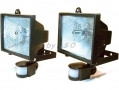Pair of 400W Floodlights with PIR Motion Sensors PIR5002 *Out of Stock*