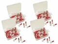 200 Piece Red Female Terminals in Plastic Case PL265