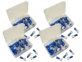 200 Piece Blue Female Terminals in Plastic Case PL267