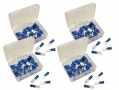 200 Piece Blue Male Terminals in Plastic Case PL268