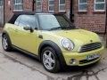 2009 Mini Cooper Convertible Yellow with Black Hood Half Black Leather 17 inch Alloys Good Spec 28,000 miles PN59VYD