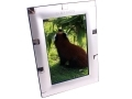 4 x 6 inch Silver Plated Photo Frame with Square Design PT4046