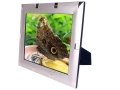 8 x 10 inch Silver Plated Photo Frame with Square Design PT4080