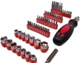 57 Piece Ratchet Screwdriver with Bits and Socket Set SD102