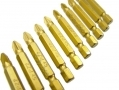 10Pc Titanium Coated Silicon S2 Steel  Screwdriver Bits 50mm Long SD281