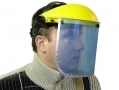 Hi Vis Clear Safety Face Mask Shield Visor with Head Band Open Close Flip Up SF013 *Out of Stock*