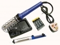 Soldering Iron Set with Stand, Pump and 4 Soldering Packs SI103