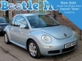 2010 VW Beetle 1.6 Luna Lumis Blue with AC Light Blue 55K FSH MOT Excellent DA59VVM