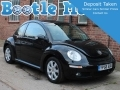2006 VW Beetle Herbie 2.0 Black Full Winter Pack 2 Owners 55K Sunroof AC YP56SOU