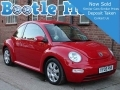 2005 VW Beetle 2.0 SE in Radiant Red 86,000 Miles AC Alloys Years MOT Full Service History YY05FNS