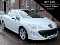 2010 Peugeot 308 CC 1.6 VTI Allure 2 Doors Convertible White Black Leather Manual Petrol 2 Owners 45,000 miles FSH BV60BVP
