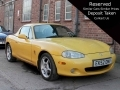 2002 Mazda MX5 Arizona Yellow with Yellow Hardtop 113,000 miles Long MOT EK52OMV