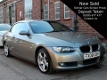 2008 BMW 320i SE Convertible Manual Petrol Platinum Bronze AC Alloys 2 Previous Owners 82,000 miles FX08UBH