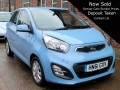 2011 Kia Picanto 2 1.25 Automatic 5 Door Blue AC 21,000 miles FSH HN61GXV *Out of Stock*