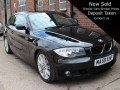 2009 BMW 116i 2.0 M Sport 3 Doors Manual Black Petrol Alloys Air Con Half Leather Service History 76,000 miles MA59EHF