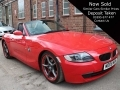 2008 BMW Z4 2.0 Sports 6 Speed AC Alloys Bright Red Black Leather Black Hood 80,000 miles FSH MD08MUA