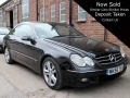 2006 Mercedes 3.0 CLK 320 Facelift CDI Avantgarde 7G-Tronic 2dr Diesel Auto Black with Black Leather  2 owners, FSH, 150,000 miles MK56TEV
