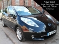2012 Nissan Leaf E Black Auto 5 Dr Black AC Nav Zero Tax 17,000 miles 24KW Battery Owned NL62BMO