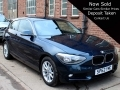 2012 BMW 116i Auto ES Sports Hatch 3dr Blue 14,750 Miles 2 Owners Full History SP62YMC