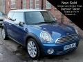 2008 Mini Cooper 1.6 Blue Half Leather 17 inch Alloys Air Con White Roof 79,000 miles FSH WU08AKJ