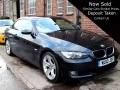 2010 BMW 320I 2.0 SE Highline Convertible Manual Petrol Sapphire Black with Coral Red Leather Years MOT 62,000 FSH WU10JOV