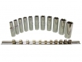 "11 pc 3/8"" Deep Highly Polished Chrome Vanadium Socket Set SS097 *Out of Stock*"
