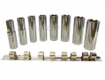 "8pc 1/2"" Deep Highly Polished Chrome Vanadium Socket Set SS098 *Out of Stock*"