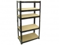 Blackspur 1.5m Boltless 5 Tier Shelving Unit SU100