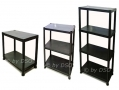 5 Tier Black Plastic Shelving Storage Unit 100kgs SU102 *Out of Stock*