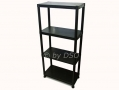 4 Tier Black Plastic Shelving Storage Unit 80kgs SU101 *Out of Stock*